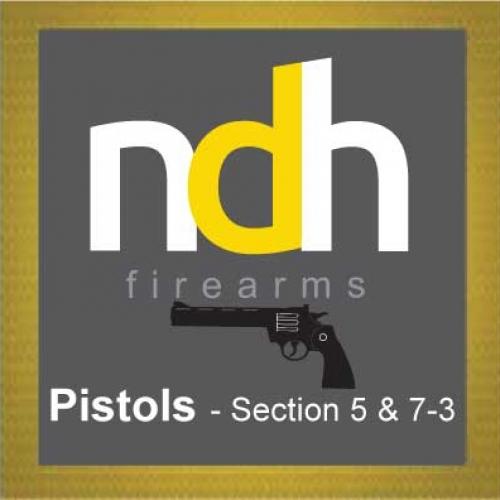 Pistols - Section 5 & 7-3